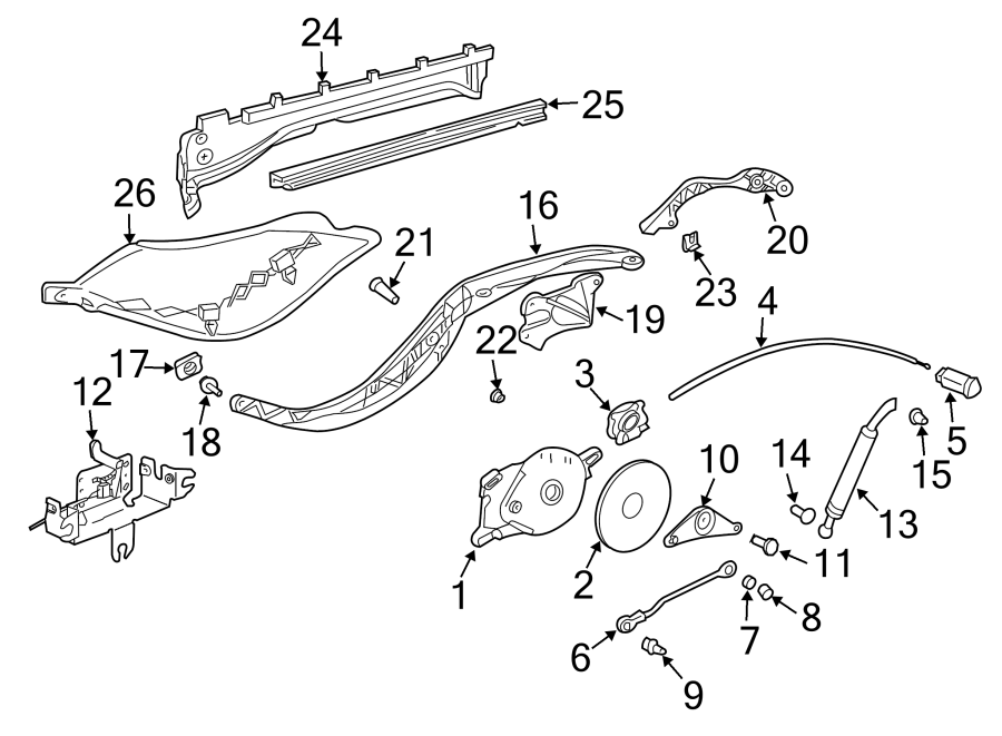 Porsche Boxster Folding Top Guide  Support Arm Guide