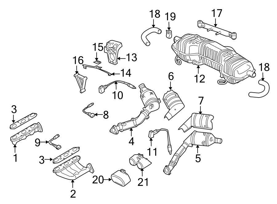 2003 porsche boxster exhaust muffler bracket  support