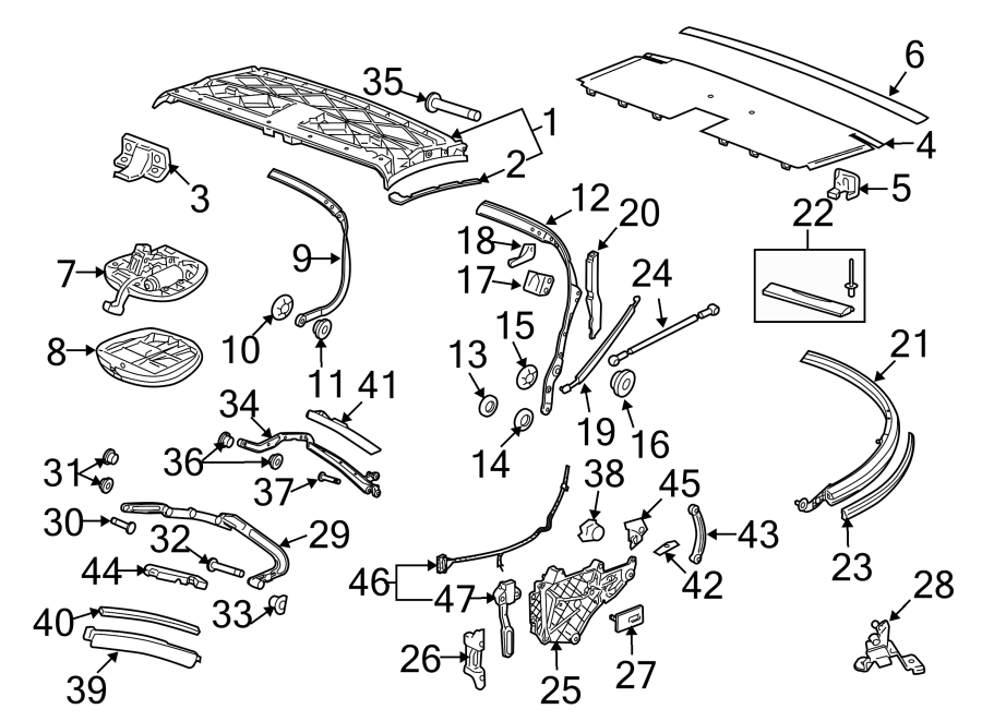 2010 Porsche 911 Convertible Top Switch  Potentiometer