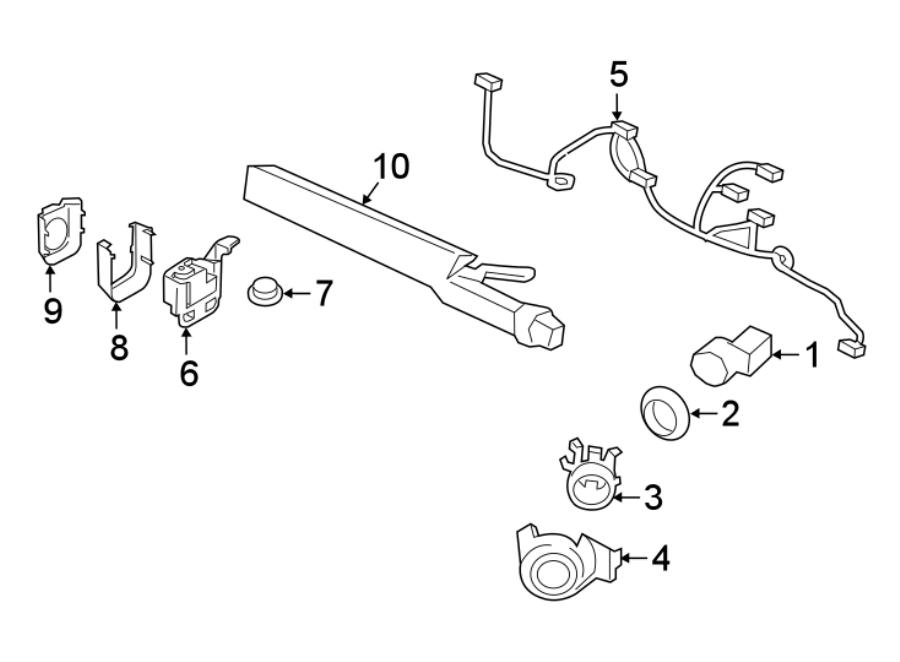2015 Porsche 911 Parking Aid System Wiring Harness  W  O