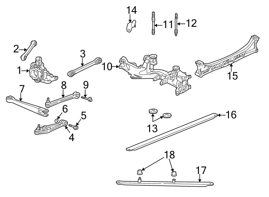 porsche 911 suspension subframe crossmember  trans  rear  manual