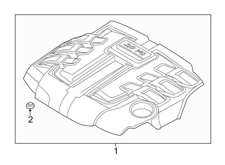 Porsche Cayenne Cover  Engine  Stud   Rear   2015
