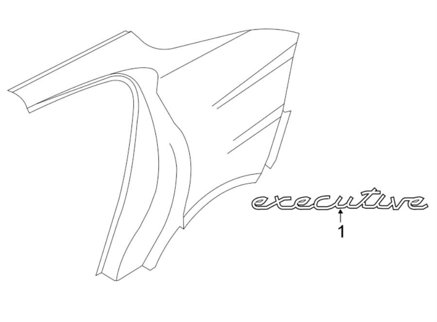 porsche panamera quarter panel emblem  executive