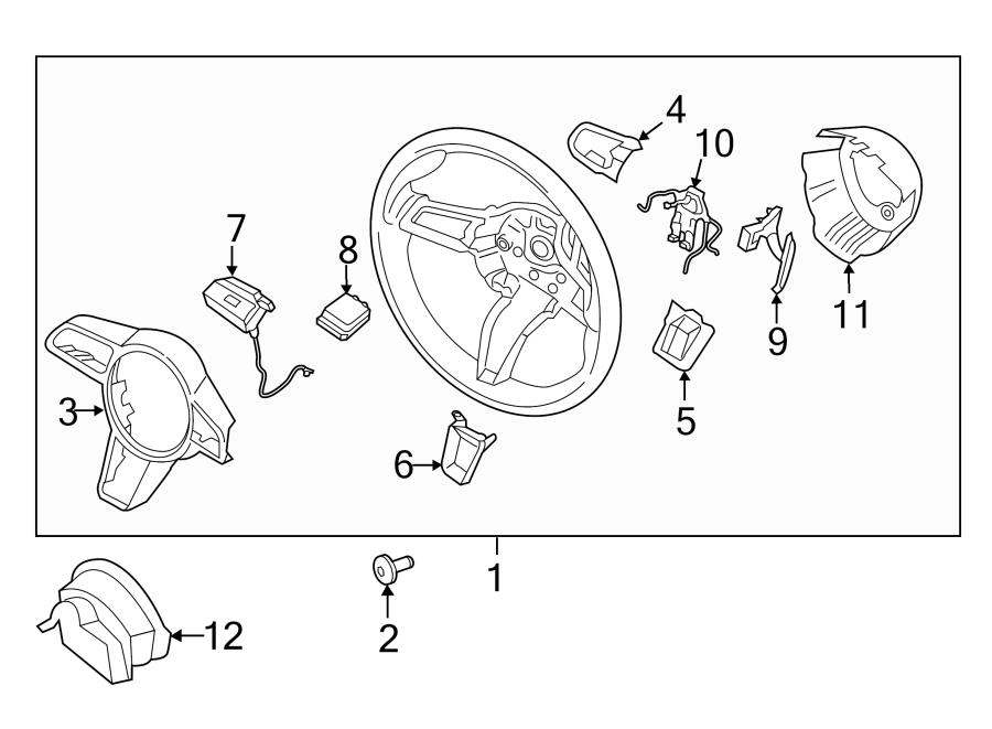 Porsche Macan Steering Wheel Wiring Harness  2015-18  Wire
