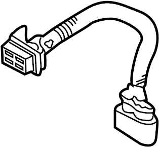 porsche cayenne harness headlight wiring harness front 2003 06 w o xenon lamps harness